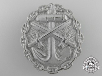 A First War German Naval Wound Badge; Silver Grade