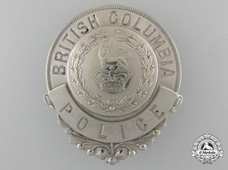 A Rare Victorian Period British Columbia Police Badge