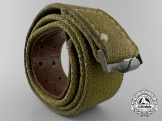 A German Army (Heer) Enlisted Man's Tropical Belt