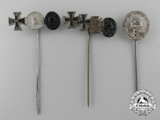 Three First War German Stickpin
