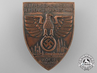 A 1933 NSDAP Westmark Officers Cross Country Rally at Cologne Badge