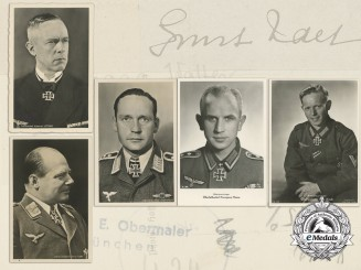 A Set of Five Knight's Cross Recipient Postcards