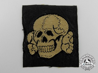 Germany, Waffen-SS. A Tropical Totenkopf Cap Insignia
