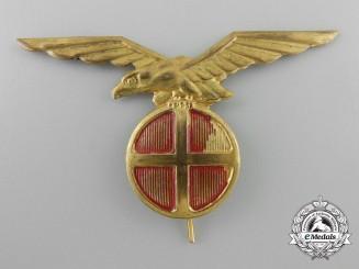 A Norweigen NS (Nasjonal Samling) Visor Cap Eagle