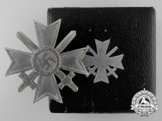 A War Merit Cross First Class with Swords by C.E. Juncker
