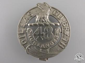 A 48th Highlanders Battalion Glengarry Badge