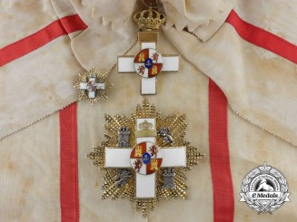 A Spanish Order of Military Merit; Grand Cross Set