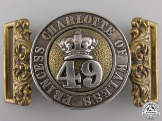 A 49th Regiment Officer's Belt Buckle