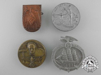 Four Second War Period German Tinnies & Badges