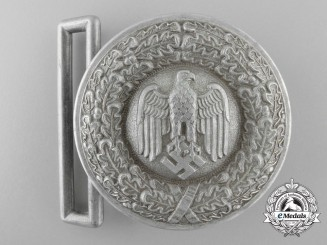 An Army (Heer) Officer's Brocade Dress Belt Buckle