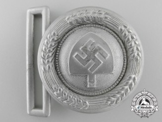 A Reich Labor Service (RAD) Leader's Belt Buckle by Assmann
