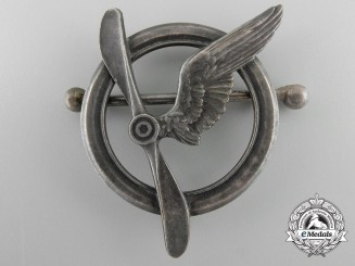 An Early First War French Air Force Crews' Members Badge