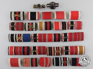 Twenty-Four German Second War Ribbon Bars