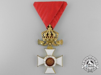 A Bulgarian Order of St.Alexander with Imperial Crown; 4th Class Type II