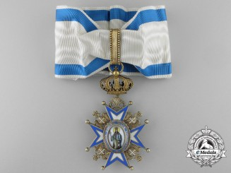 A Serbian Order of St. Sava; Third Class Commander Cross