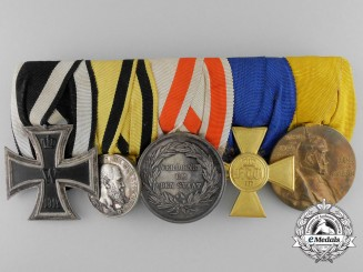 A Five Piece German Imperial Medal Bar