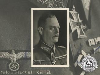 A Field Marshal (Generalfeldmarschall) Wilhelm Keitel Signed Photograph/Postcard