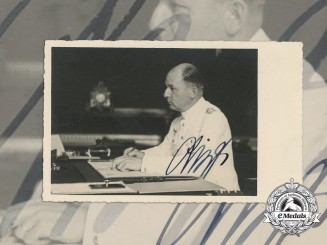 A Field Marshal (Generalfeldmarshall) Wilhelm List Signed Photograph/Postcard