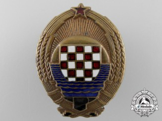 Croatia, Independent State. A Military Court Judge's Badge, c.1955