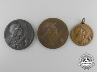 Three First War French Verdun Medals