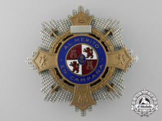 A Franco Period Spanish War Cross; Breast Star