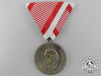 A Yugoslavian Royal Household Service Silver Medal