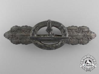 A Kriegsmarine Submarine Clasp; Silver Grade by Schwerin