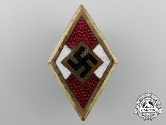 A HJ Golden Honor Badge by Wilhelm Deumer, Lüdenscheid