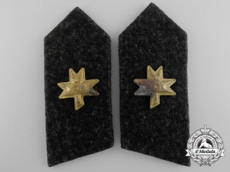 A Set of Second War Croatian Armoured Corps Collar Tabs