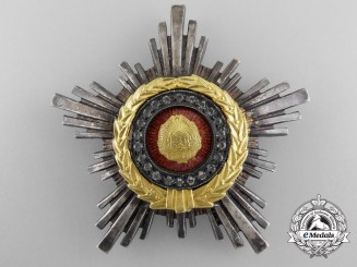 Romania, Socialist Republic. An Order of the Star, III Class with Sapphires