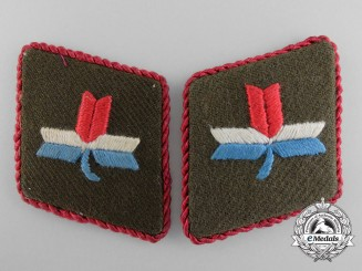A Scarce Set of Second War Croatian Ustasha Leaders Collar Tabs