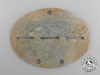 A Recovered Second War Kroatien Kdr. D. Gend. Dog Tag