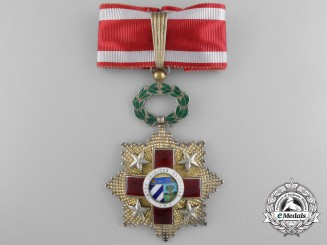 Cuba. A Red Cross Order, 3rd Class Commander's Badge, by Antigua Vilardebo