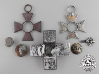 Seven Medal Parts Recovered from the Zimmermann Factory