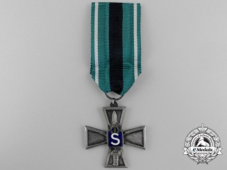 A Finish Civil Guard Merit Cross; Silver Grade