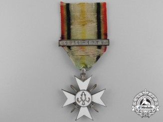 A Belgian Civil Decoration; Silver Cross Second Class