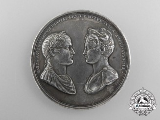 An 1810 Marriage of Napoleon I and Marie Louise of Austria Medal