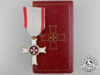 A Sovereign Military Order of Malta; Merit Cross by Tanfani & Bertarelli