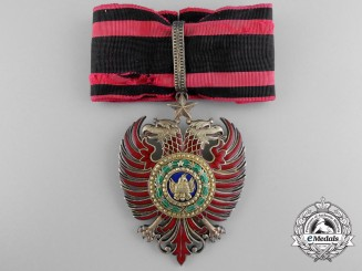 An Albanian Order of Scanderbeg; Commander's Badge by E.Gardino, Roma