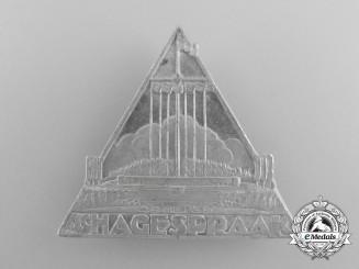 A 1939 Dutch NSB Commemorative Hagespraak Meeting Badge