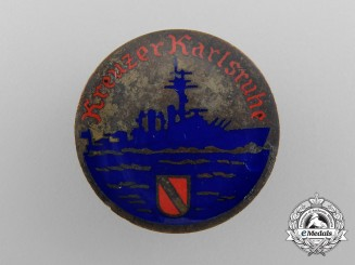A German Cruiser (Kreuzer) Karlsruhe Badge