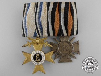 A First War Bavarian First Class MVK Medal Pair