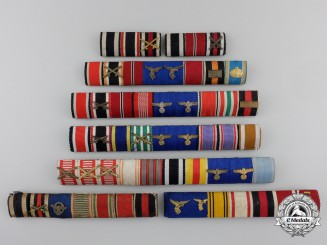 A Group of Eight Second War Ribbon Bars