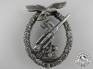 An Early Luftwaffe Flak Badge by Assmann