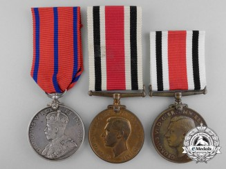 Three British Police Coronation & Long Service Medals