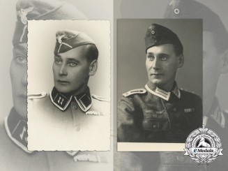 Two Croatian-German Folksdeutscher's Officer's Photos