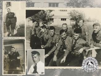 Four Croatian-German Folksdeutscher's Officer's Photos