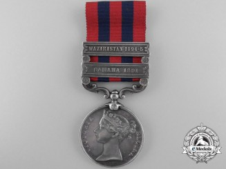 An India General Service Medal to the No. 3 (Peshawar) Mountain Battery