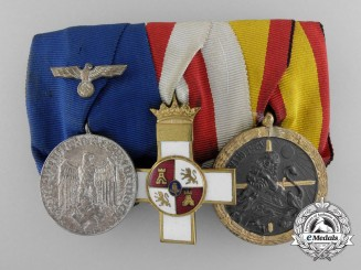 An Army Long Service & Spanish Civil War Medal Bar