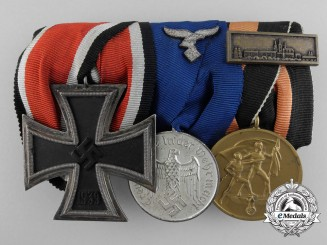 A Luftwaffe Long Service & Iron Cross Medal Bar